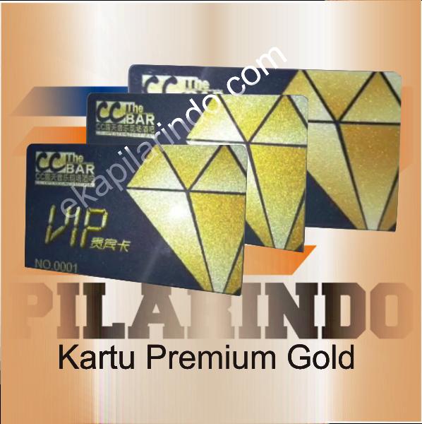 kartu premium gold gliter