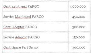 harga service printer fargo