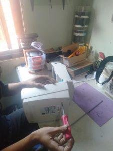 service printer zebra gk888t
